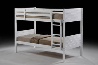 Jupiter Single Bunk White with Fixed Ladder