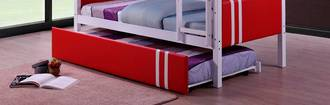 Lacos Single Trundle Bed with Red