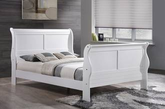 Louis White Double Bed Frame