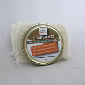 50g Furniture Wax Clear with Polishing Cloth