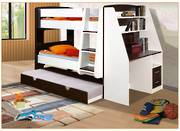 California Single Bunk With Trundle Bed and Desk