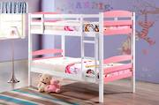 Cosmos Single Bunk White and Pink with Fixed Ladder