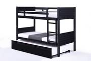 Jupiter Single Bunk Black with Trundle Bed