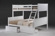 Jupiter White Duo Bunk and Drawers