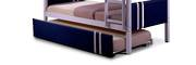 Lacos Single Trundle Bed with Blue Panel