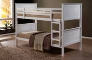 Jade King Single Bunk White