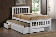 Maya White King Single Captain Bed